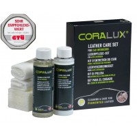 CORALUX® auto salona un sēdekļu dabīgās ādas kopšanas līdzekļu komplekts
